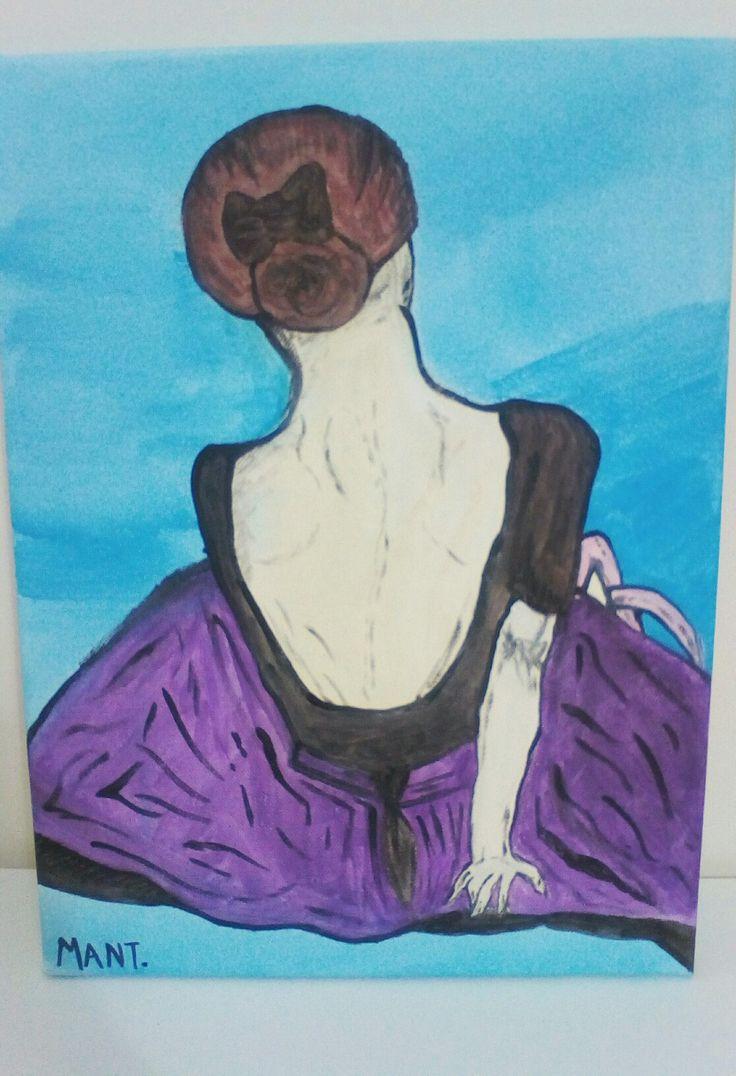 Diy decor: ballerina canvas painting.