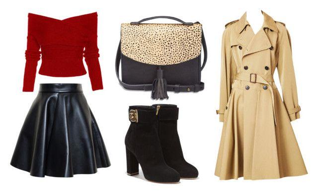 """elegancki"" by fashionandmore-blog on Polyvore featuring moda, MSGM, Jean-Paul Gaultier, Salvatore Ferragamo i Lucky Brand"