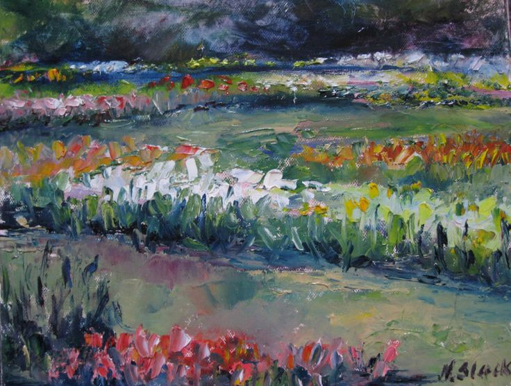 """Tulips in Bloom, Botanic Gardens"" 12 x 10inches www.niamhslack.com"