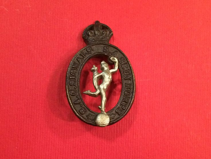WWII South African Signals Corps Cap Badge