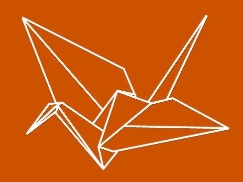Gru Origami Uccello wall decal-elegante parete arte per soggiorno & camera da letto   Riceverete uno 8 da 5 Origami gru vinile adesivo   * * Si