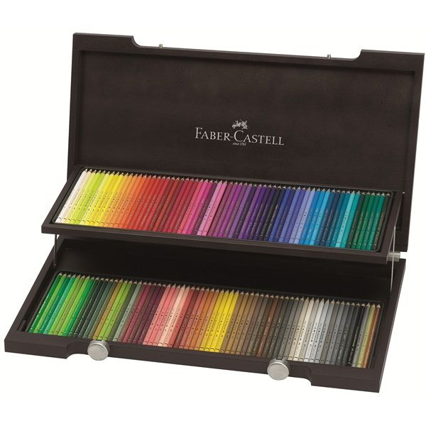 Faber-Castell Polychromos, 120 set in a wooden display box.