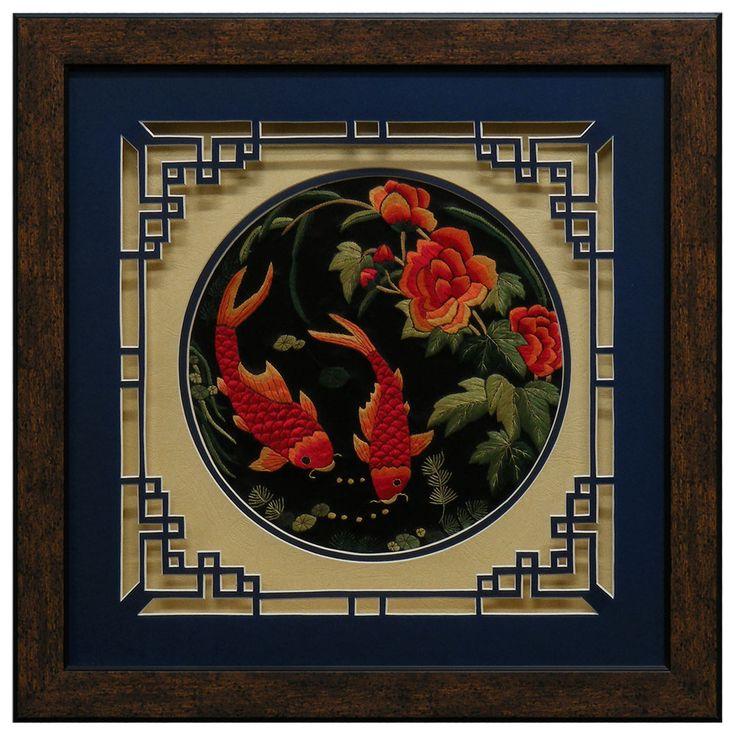 Silk Embroidery Shadow Box