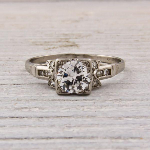 So pretty! 1930 vintage engagement ring! | Cutsie | Pinterest