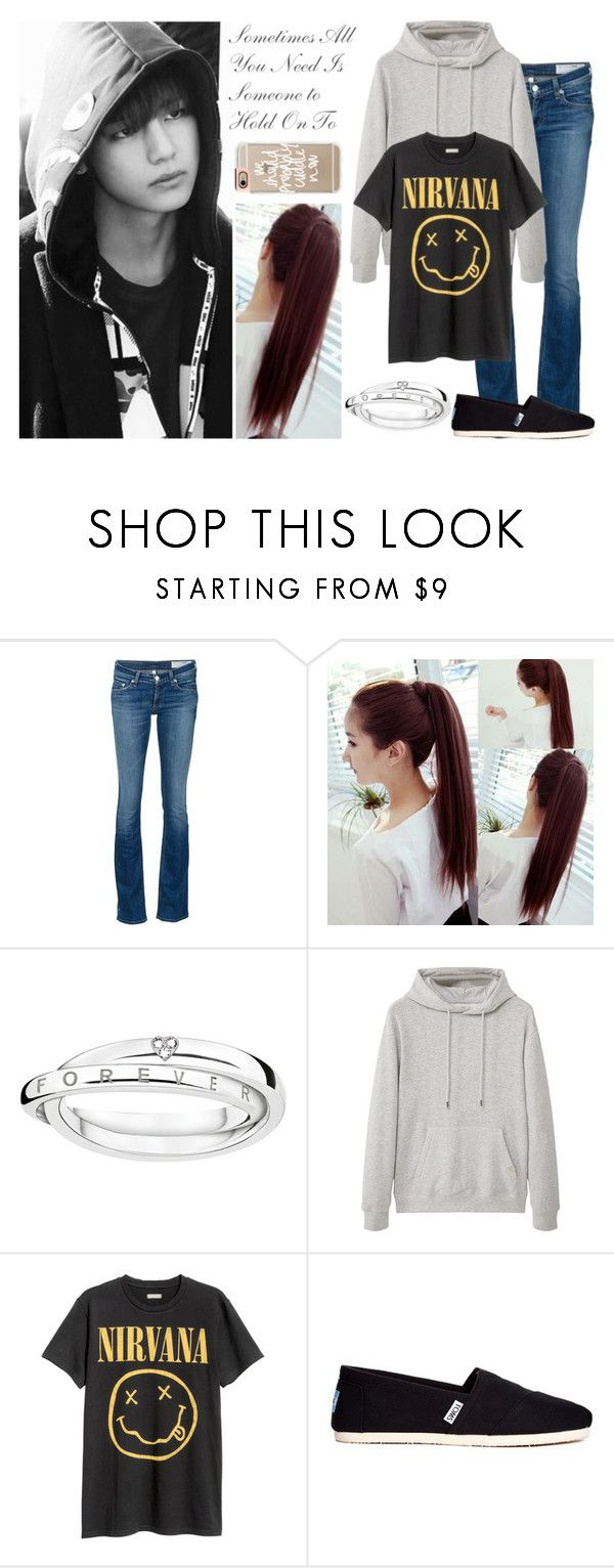 """""""Even If I Hide It, Even If I Disguise It, It Isn't Erased (Kim Taehyung - Alternate Universe Story Outfit #2)"""" by lola-twfanmily ❤ liked on Polyvore featuring rag & bone/JEAN, Thomas Sabo, MANGO MAN, TOMS and Casetify"""