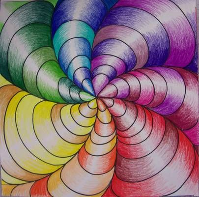 color tornado op art