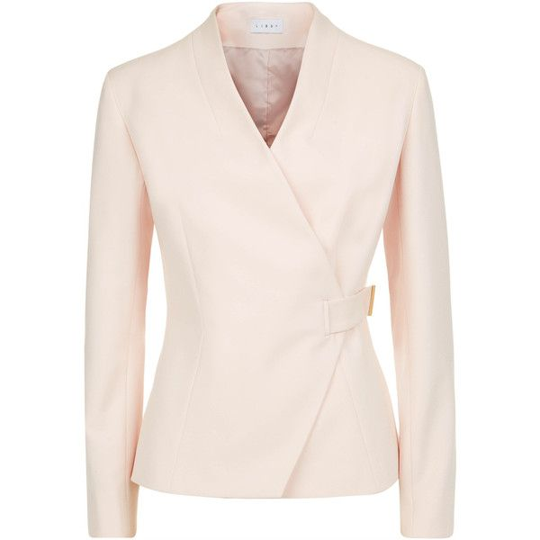 Winchester Jacket Blush (5.624.285 IDR) ❤ liked on Polyvore featuring outerwear, jackets, pink blazer jacket, pink jacket, slim fit blazer, pink blazer and slim blazer