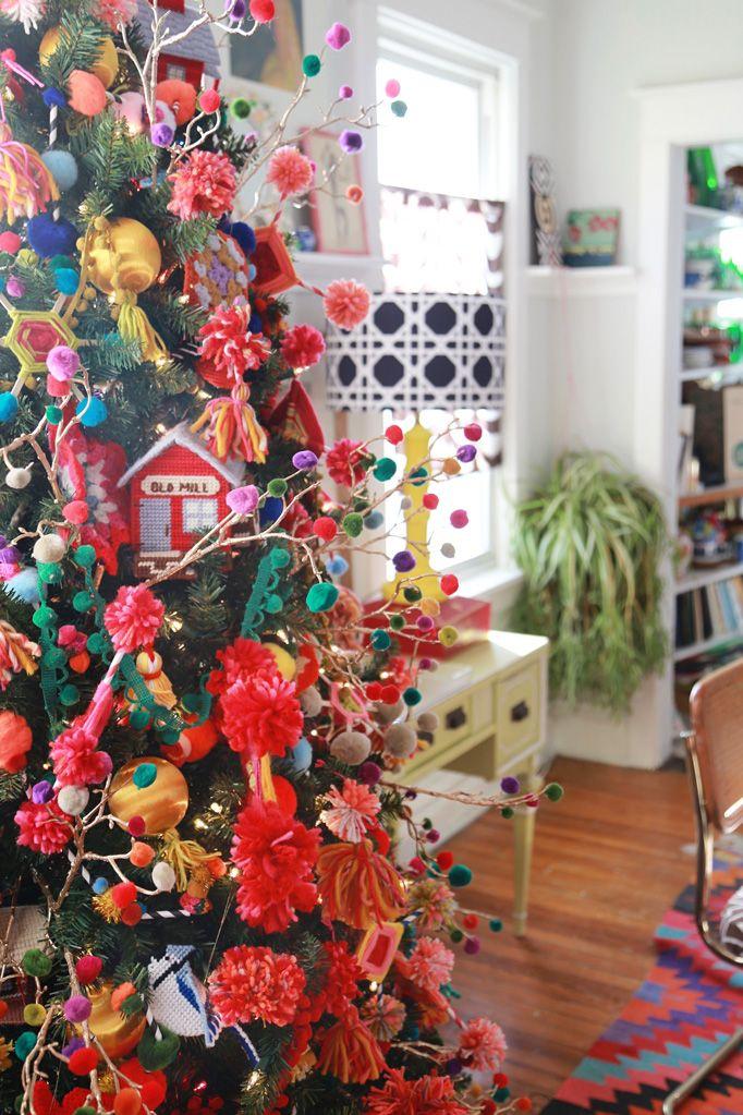 Bohemian Funk Granny Chic Dream Tree - Aunt Peaches--bold colours in the library