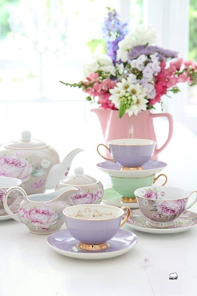 Teatime  Beautiful china  Pinterest  Teas, Tea Time and Tea Sets
