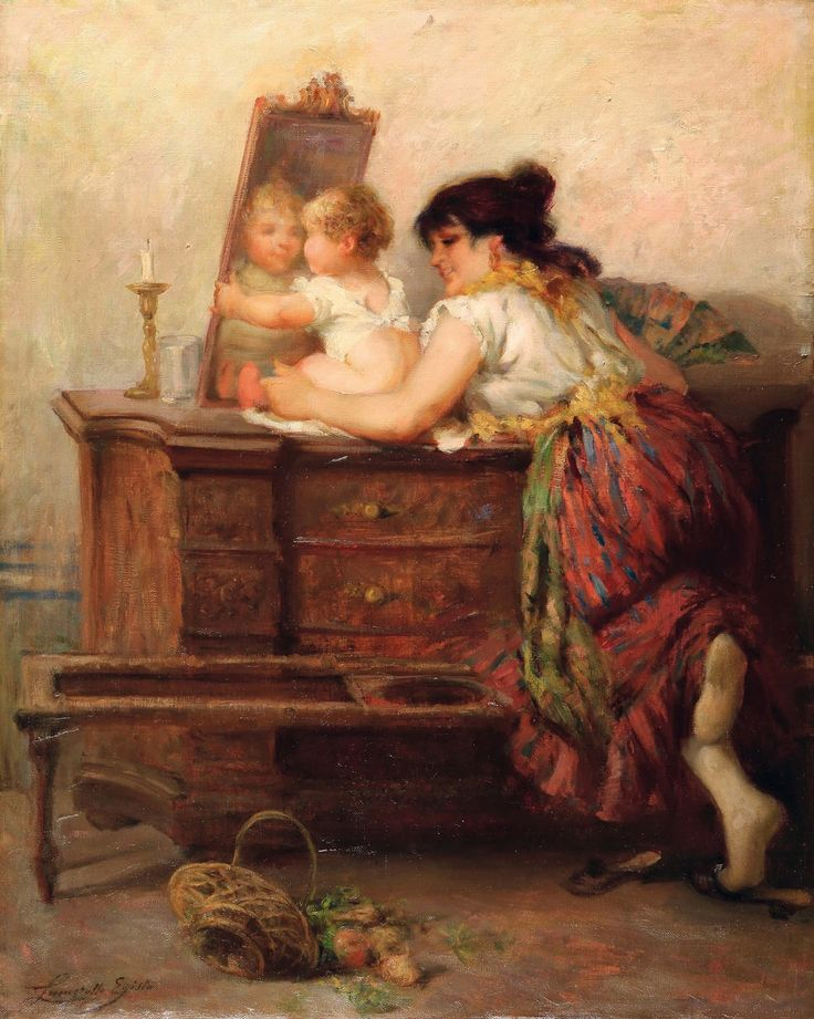 Egisto Lancerotto (August 21, 1847 - May 31, 1916) was an Italian painter**, mainly of genre scenes of Venice.  He was born in Noale. His father, a bureaucrat in that town, was transferred to Venice when Egisto was young. Lancerotto attended the Venetian Accademia di Belle Arti, where his professors were Napoleone Nani, Michelangelo Grigoletti, Federico Moja and Pompeo Marino Molmenti. The latter was likely his strongest influence.