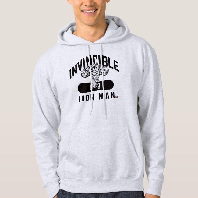 Invincible Iron Man Collegiate 63 Badge Hoodie | Zazzle.com