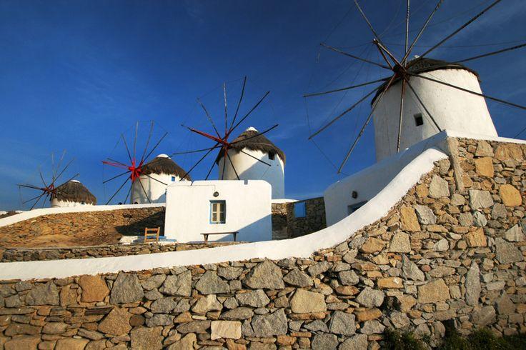 Travel Photography Greece, Mykonos, Windmills