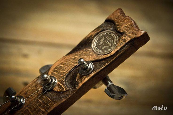 Miku cigar box guitar headstock