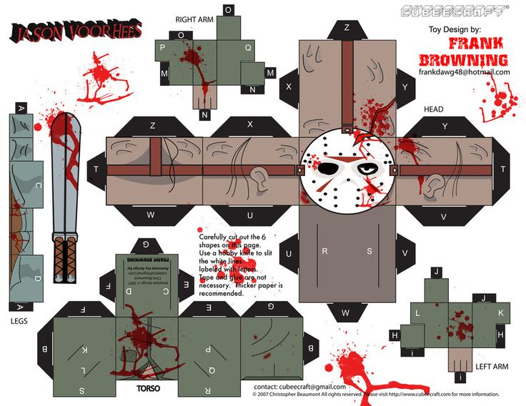 Jason Voorhees Cubee by frankdawg48.deviantart.com on @deviantART