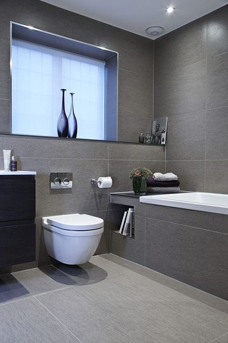Modern monochrome bathroom