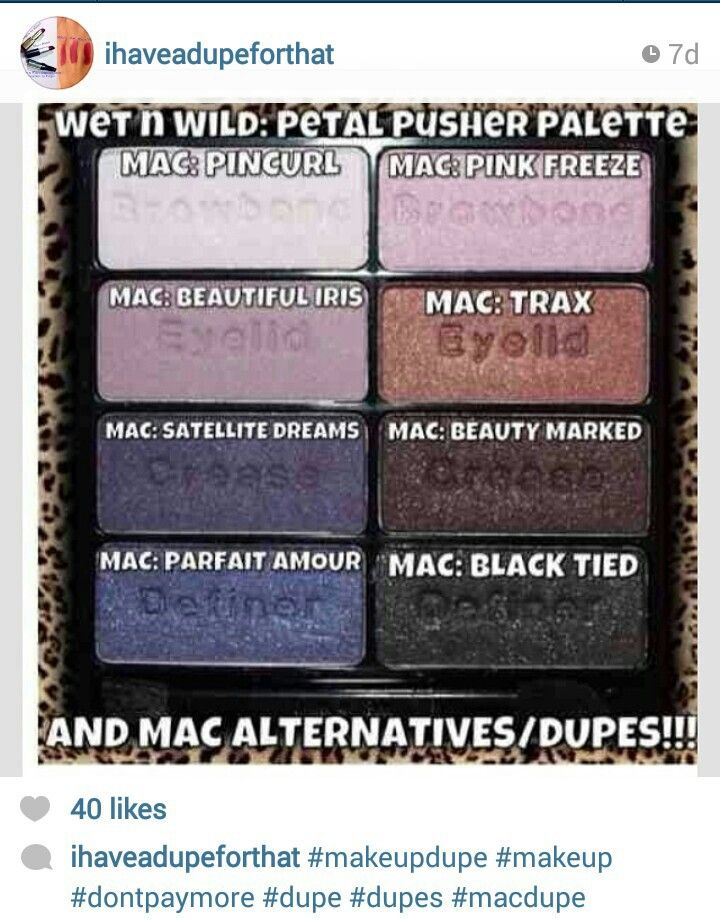 Mac eyeshadow dupe from wnw palette