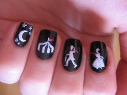 night circus nail art. Holy crap! This is phenominal!!!!