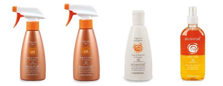 Con la linea < ALGA SUN > by Belnatur, potrai rilassarti sulla spiaggia senza paura di avere la la pelle non protetta. I nuovi Alga Sun Lait 15 e 30, in emulsione spray adatta anche per i bambini, Alga Sun Max Protection 50+ a protezione molto alta per tutti i tipi di pelle.