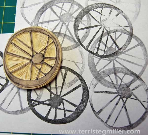 Terri Stegmiller Art Quilts - off center bicycle wheel