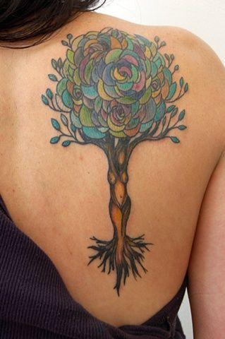 feminine ~ from artwork by David Hale #tattoo #body_art : Athens Ga, Trees Trunks, Tattoo'S Idea, Color, Trees Of Life, Body Art, Trees Tattoo'S, Trees Design, Anchors Tattoo'S