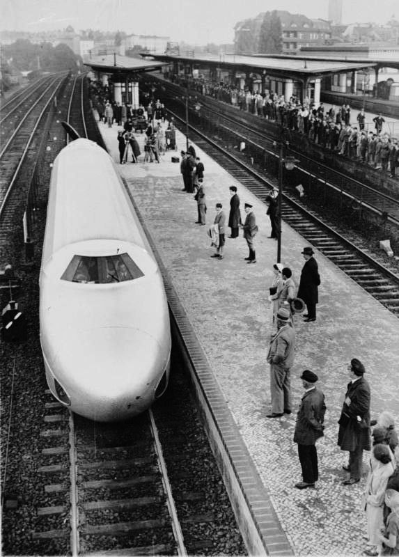 German Bullet Train. Taken June 21, 1931. (ran between Berlin and Hamburg)