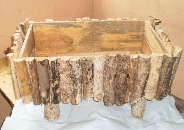 canastas navideñas de madera rusticas - Buscar con Google