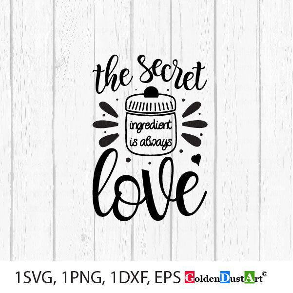 Download The Secret ingredient is always love, Kitchen Home Decor ...
