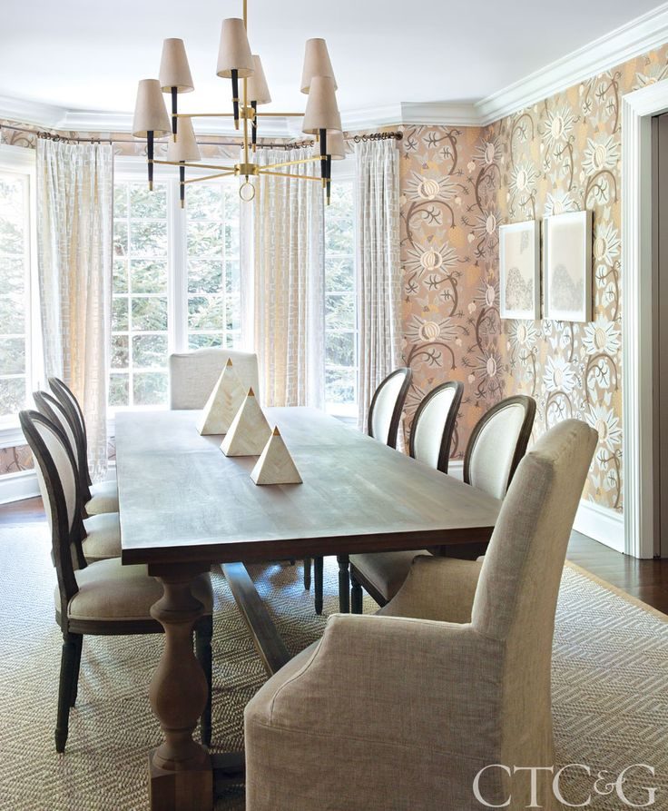 On The Walls Of Dining Room Exuberant Maharani Wallpaper Is From Osborne Little