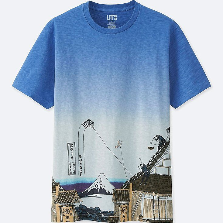 hokusai blue ut short sleeve graphic t shirt tシャツ シャツ ユニクロ