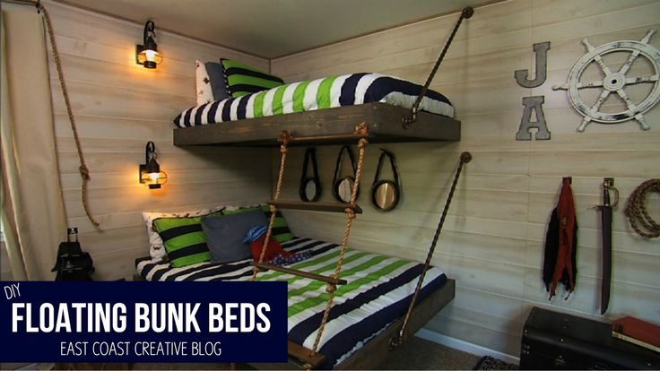 25 Diy Bunk Beds With Plans: Floating Bunk Beds Tutorial {Knock It Off DIY Project
