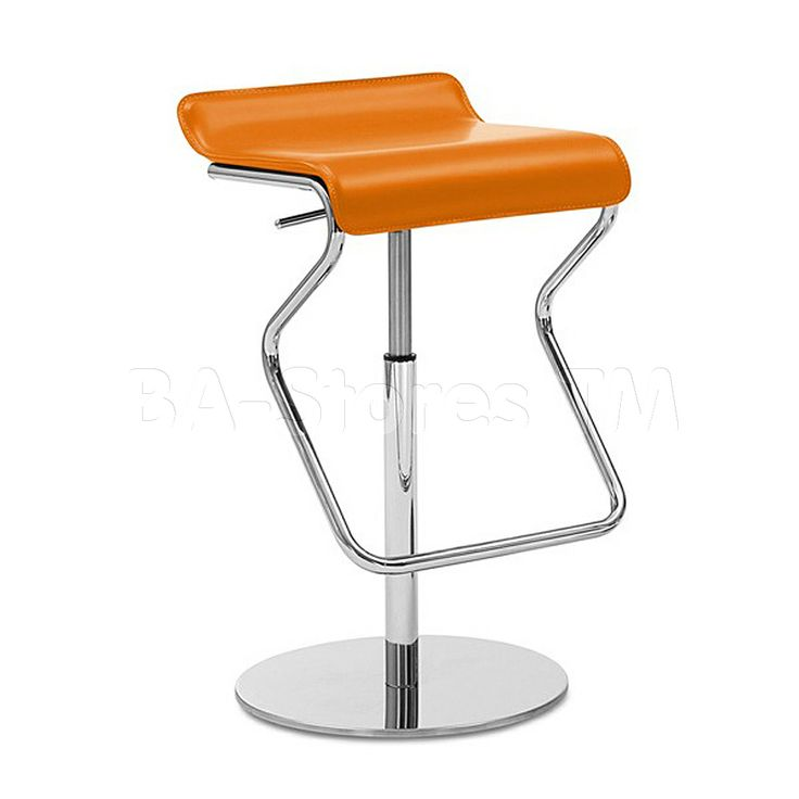 Kim Sg Swivel Stool In Regenerated Orange Leather