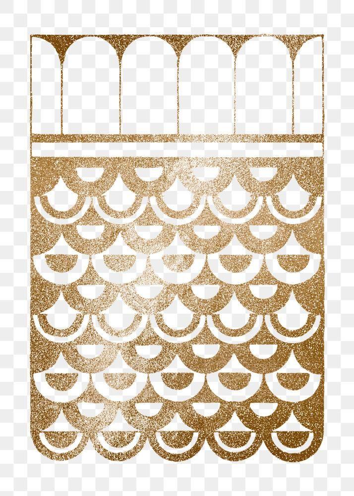 Download Premium Png Of Vintage Golden Glitter Fish Scales Ornament Png Golden Glitter Fish Scales Png