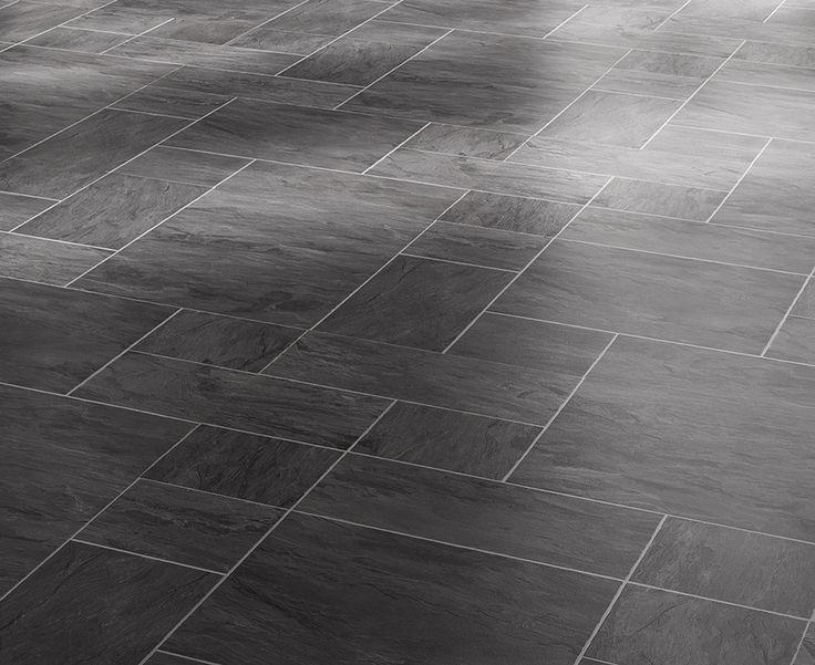 Black Slate Tile Effect Laminate, Black Slate Waterproof Laminate Flooring