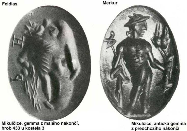 Mikulčice, hrob 433, gemma