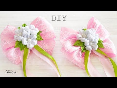 РЕЗИНКИ-БАНТИКИ, МК / DIY KANZASHI BOWS - YouTube