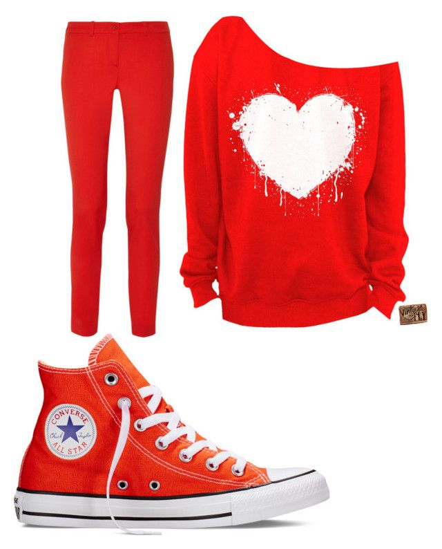 Red by aniarkdk on Polyvore featuring polyvore, fashion, style, Michael Kors, Converse and clothing