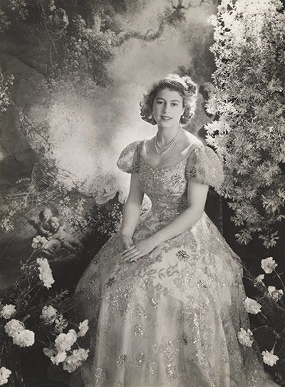 Princess Elizabeth at Buckingham Palace in March 1945