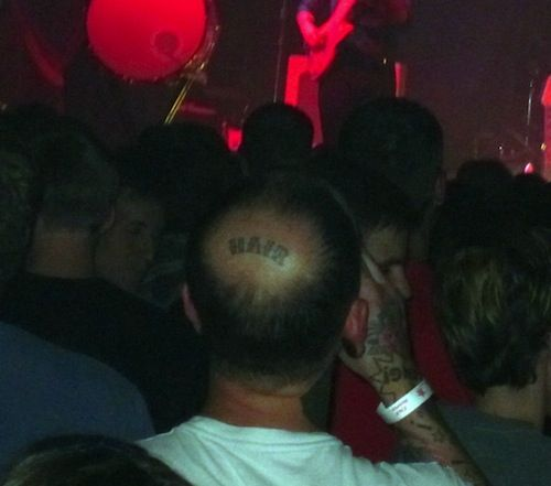 A 'hair' tattoo, it's not what you're likely thinking...