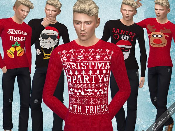 Christmas Jumper by Fritzie.Lein at TSR via Sims 4 Updates