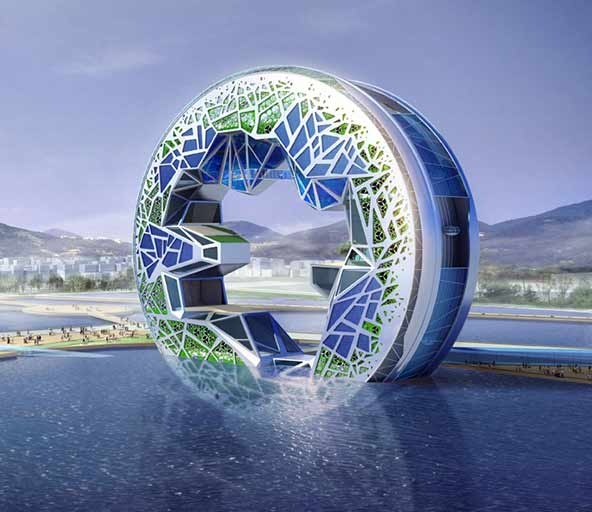Dome House Futuristic: 1000+ Images About Futuristic Buildings On Pinterest