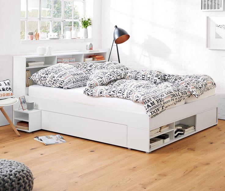 Die besten 25+ Bett mit stauraum tchibo Ideen auf Pinterest - klassische bett designs schlafzimmer