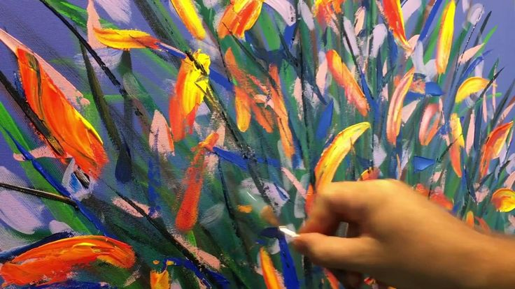 Flower painting Video