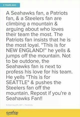 HAHAHAHAHA!! THIS will always be the PERFECT Seahawks fan joke.