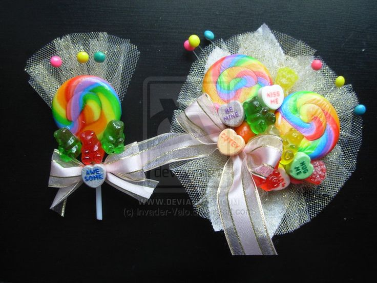 candy corsage - Google Search, for the gumdrop ball I am going to with my son