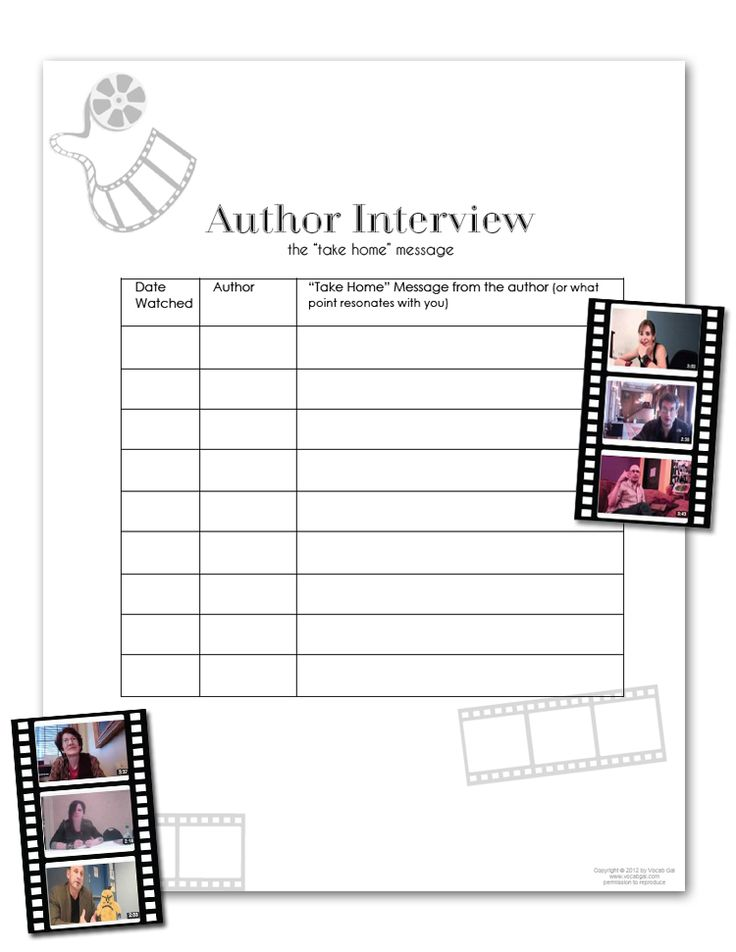 Author Interview Worksheet Reading Authors Engchat