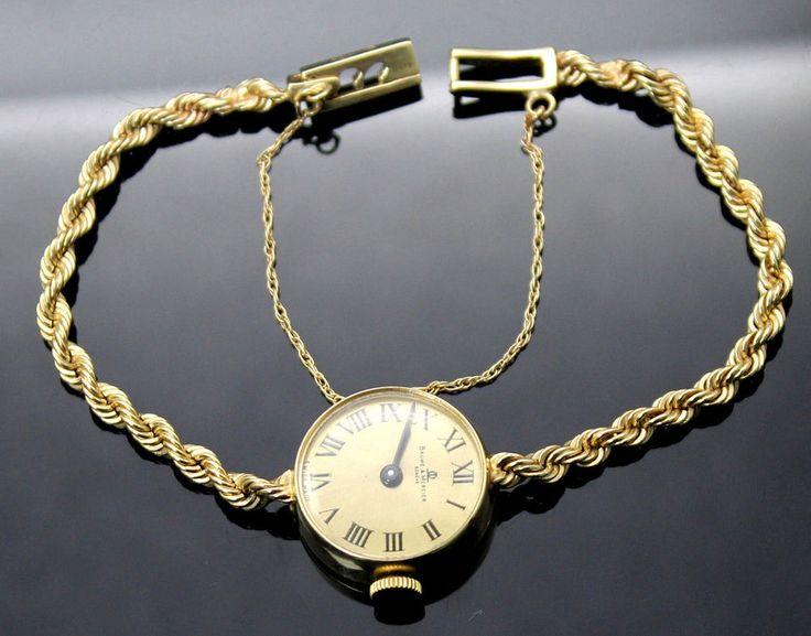 AUTHENTIC BAUME & MERCIER VINTAGE 14K YELLOW GOLD AUTOMATIC LADIES WRIST WATCH #BaumeetMercier #CASUALDRESS
