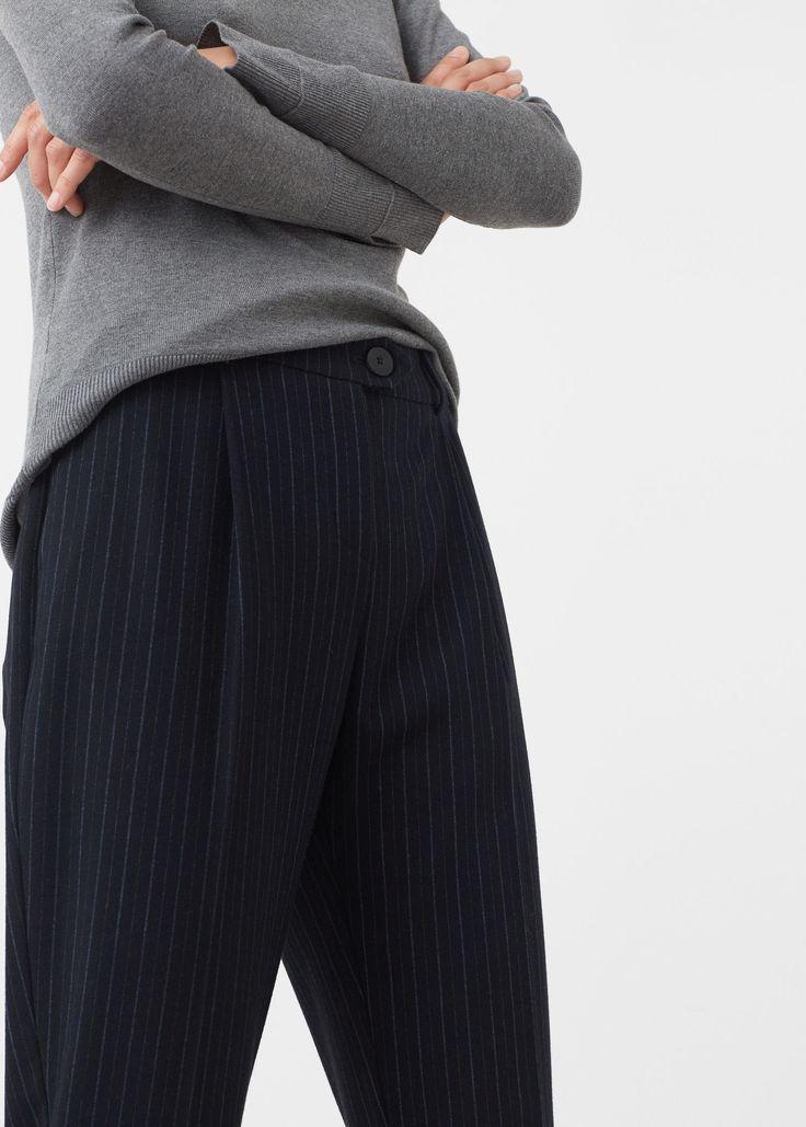 Полосатые брюки - Брюки  - Женская   OUTLET Россия (Российская Федерация)