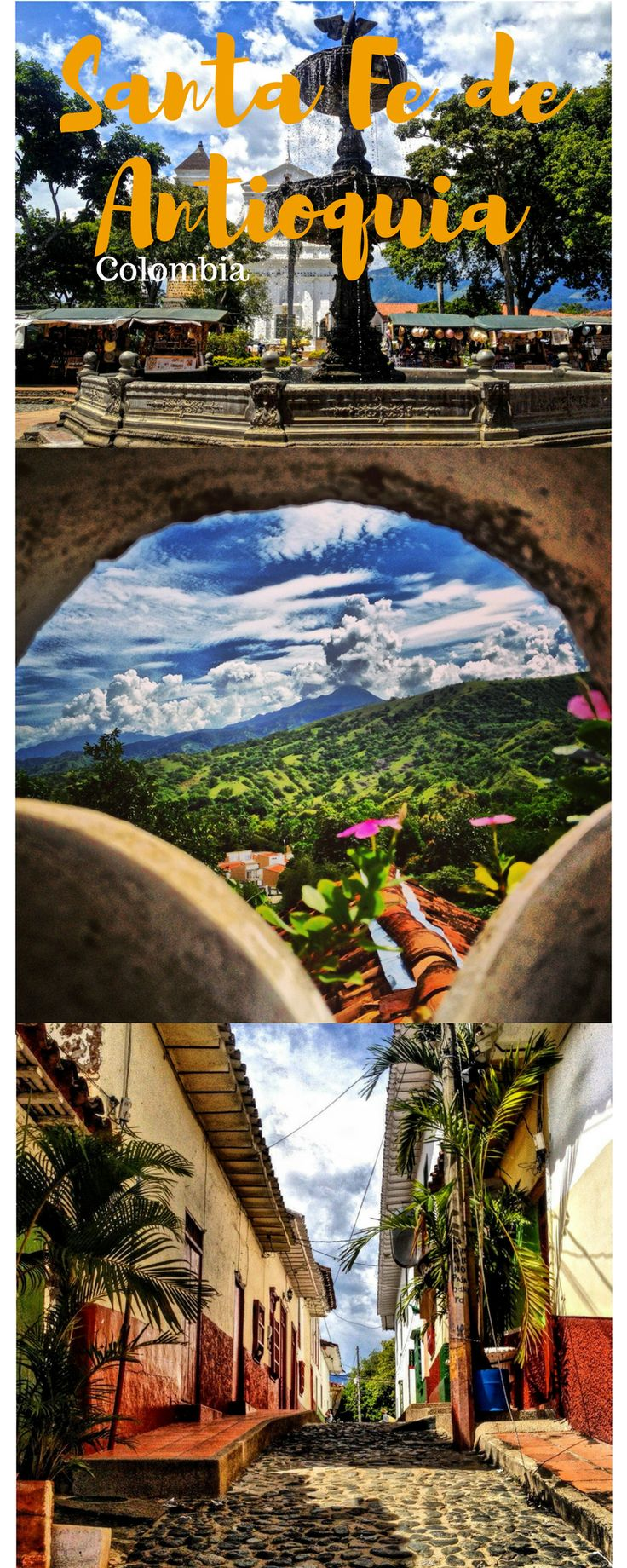 Santa Fe de Antioquia is a beautiful colonial town just about 2 hours from Medellin. The beautiful city and it`s surrounding make this place a perfect daytrip from Medellin #Medellin #santafe #antioquia #colonialtown #travel #backpacking #daytrip