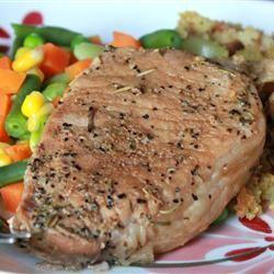 Rosemary and Garlic Simmered Pork Chops Allrecipes.com... The pork ...