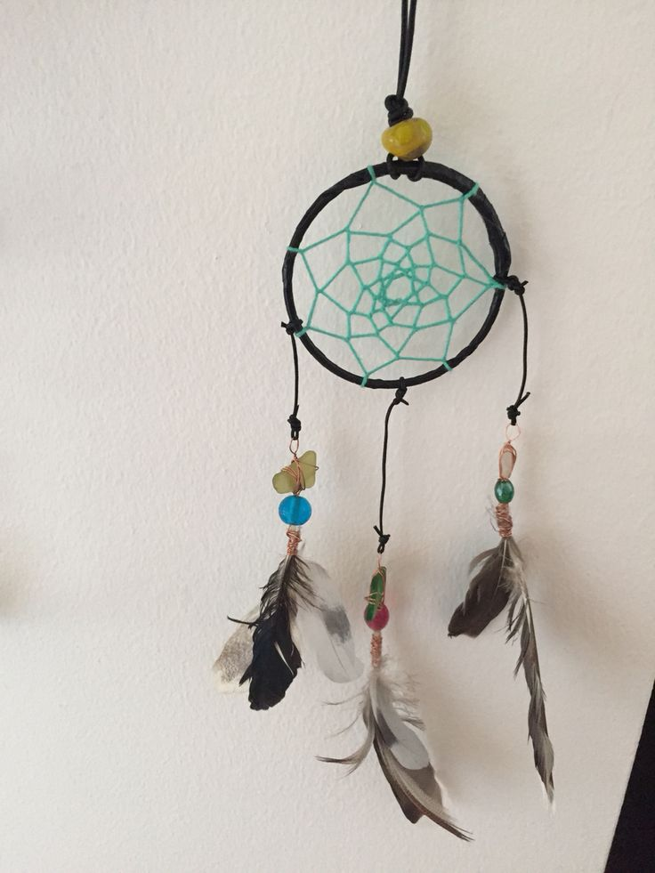 Dreamcatcher with beach glass pieces